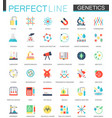 set of flat biochemistry genetics icons vector image vector image