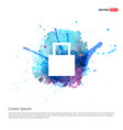 shopping bag icon - watercolor background vector image