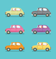 Side View Of Colorful Sedan Cars vector image vector image