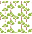 Simple tree seamless vector image vector image