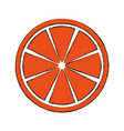 slice citrus fruit icon vector image vector image