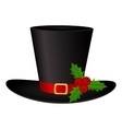 Snowman Hat on a white background isolated vector image vector image