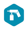 spray aerosol can bottle with a nozzle icon vector image vector image