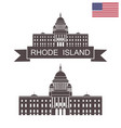 state of rhode island vector image vector image