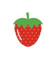 strawberry flat icon isolated on white background vector image
