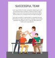 successful team poster text vector image vector image