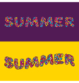 Summer card of multi colored little balls vector image vector image