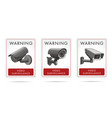 video surveillance set stickers with video vector image