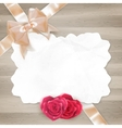 Vintage frame with roses EPS 10 vector image vector image