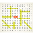 word search puzzle vector image
