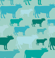 Seamless pattern of blue cow vector image