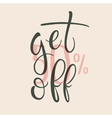 Get 50 percent off Sale label vector image