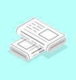 3d isometric flat concept newspapers vector image