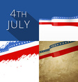 4th of july american independence day background vector image