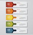 5 steps order template for your design vector image vector image