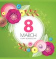 8 march women s day paper cut flower background