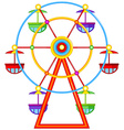 A ferris wheel ride vector image