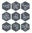 abstract molecule icons design vector image vector image