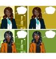 African Businesswoman pop art comic vector image vector image