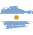 argentin scratched flag vector image vector image