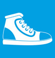 athletic shoe icon white vector image vector image