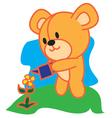 Bear Gardening vector image vector image