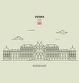 belvedere palacel in vienna austria vector image vector image