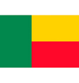 beninese flag vector image vector image