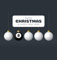 billiard merry christmas and happy new year sport vector image vector image