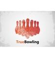 bowling logo design poster design vector image