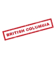 British Columbia Rubber Stamp vector image vector image