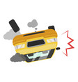 car accident icon road traffic vehicle fatality vector image vector image