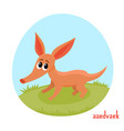 cartoon of wild animal aadvark vector image