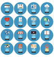 Circle Colorful Smartphone Concept Icons Isometric vector image vector image