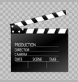 clapper board on transparent background vector image