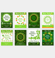 collection of st patrick s day invitation poster vector image vector image