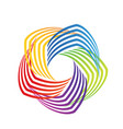 colorful swirly abstract icon logo vector image vector image