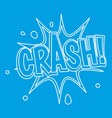 crash explosion bubble icon outline style vector image