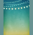 decorative holiday lights background vector image