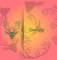 deer heads pattern vector image vector image