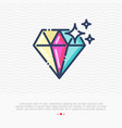 diamond thin line icon vector image vector image