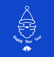digital blue happy new vector image vector image