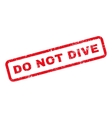 Do Not Dive Text Rubber Stamp vector image vector image