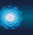 electronic futuristic background vector image