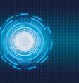electronic futuristic background vector image