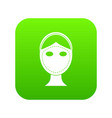 face marked out for cosmetic surgery icon digital vector image