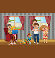 family member cartoon character in living room vector image
