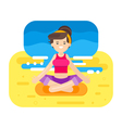 flat style of woman doing yoga vector image vector image