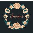 Floral Frame Roses Summer Time vector image vector image