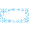 frame with crystal snowflakes vector image vector image